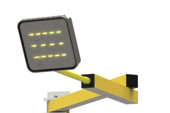 Neues Flexibles LED Dock Licht Stertil Verladetechnik